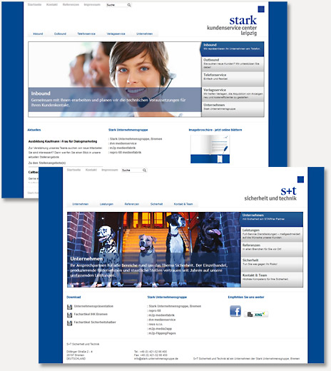 Screenshot neue Webseiten
